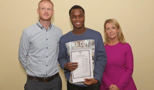Emmanuel Eguare 625 points 2017 leinster Senior College