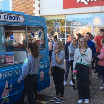 Friday visit from Ice-cream Van!